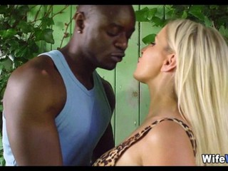 Blonde Wife Cheats with Black Guy