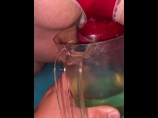 Bbw wife pissing from behind