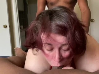 Cheating slut gets ass filled by bbc while boyfriend films
